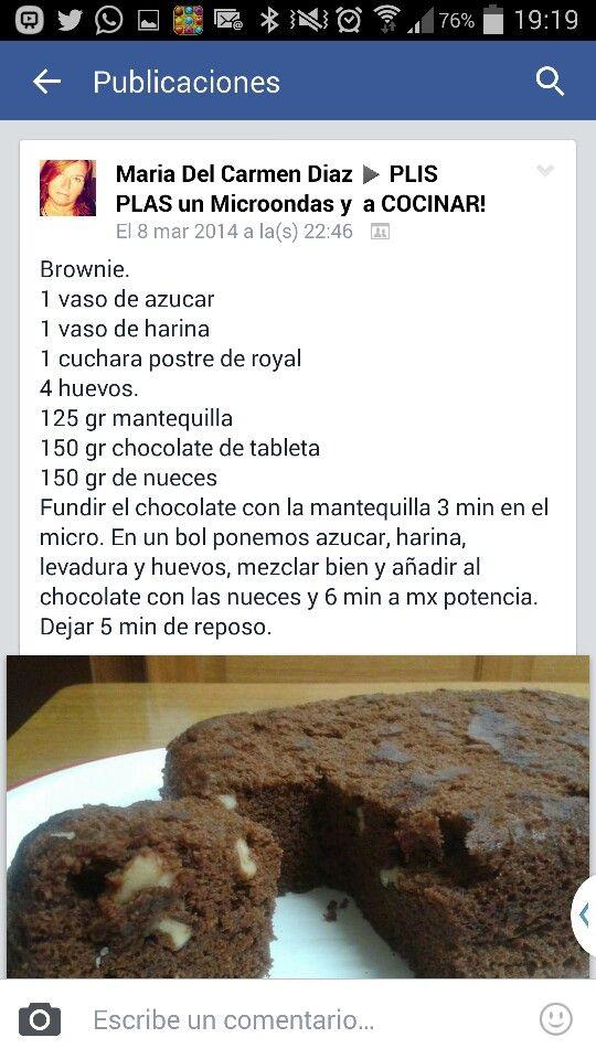 Brownie microondas
