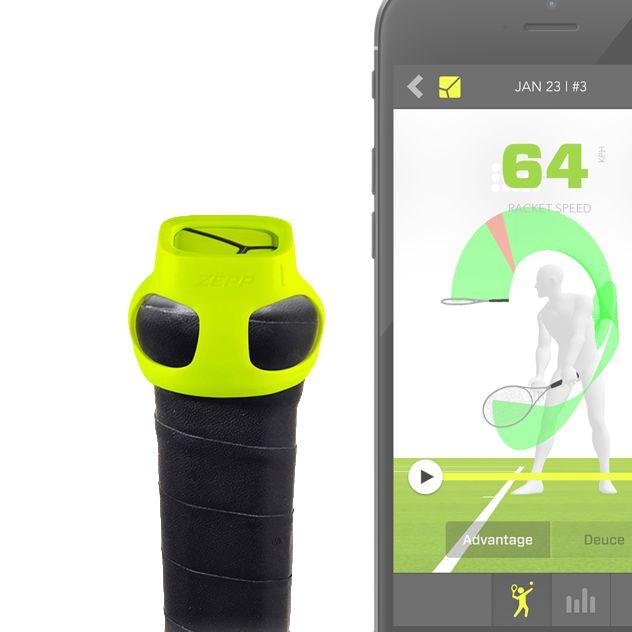 ZEPP Tennis - 3D Bewegungsanalyse - Schlagtechnik, Sweet Spot, Geschwindigkeit und Bewegung - analysieren, verbessern und gewinnen