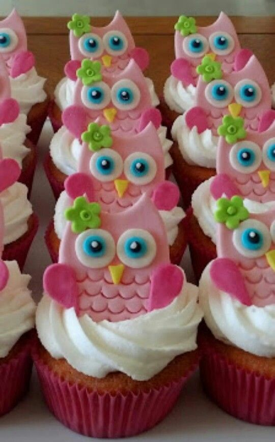 Owls cupcakes