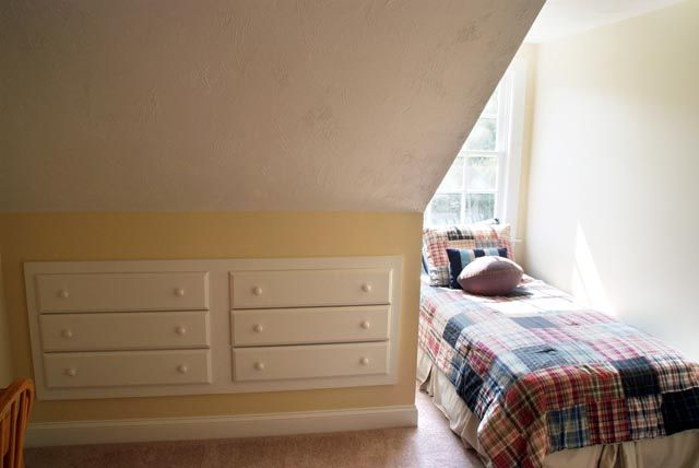 chest of drawers in the wall