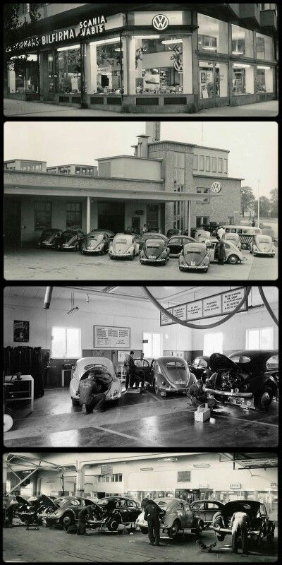 VW Dealer and Service, 1950s.