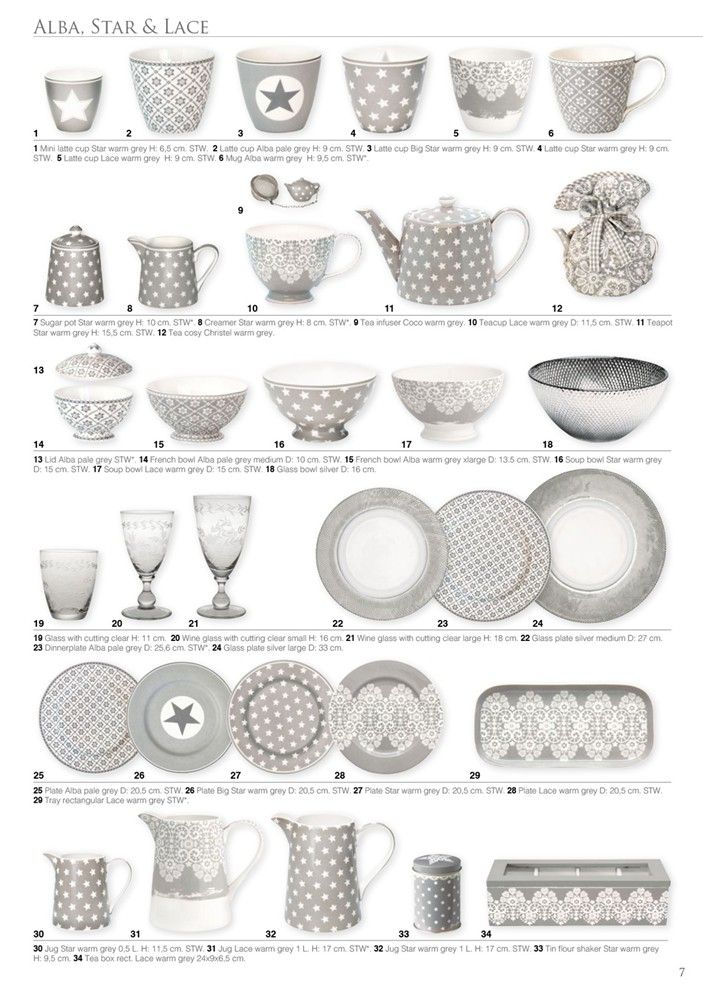 Greengate Europe LOVE grey dishes ❤