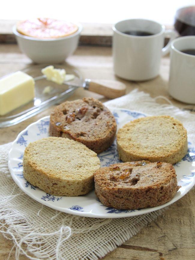 Paleo English Muffins-Plain version and cinnamon raisin version!