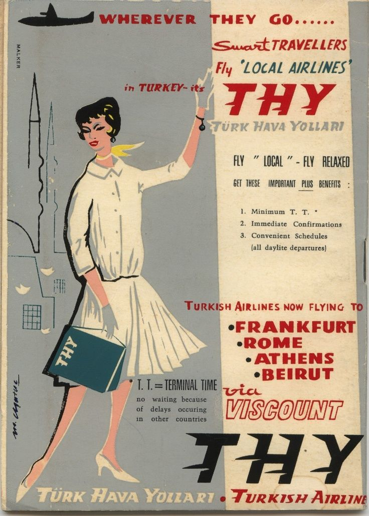 Frankfurt • Rome • Athens • Beirut • Turkish Airlines (1950s)