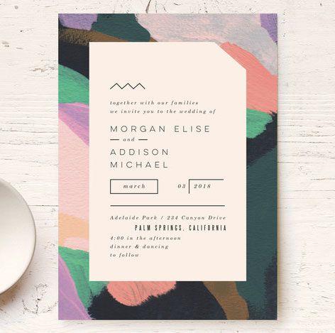 Abstract Modern Wedding Invitations by Moglea