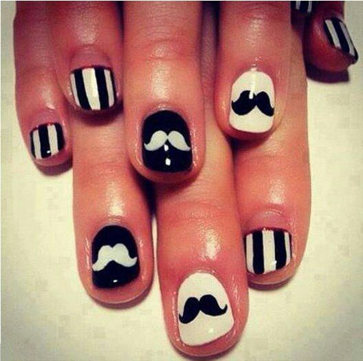 15 best nails images on pinterest cute nails nail scissors and 60 examples of black and white nail art french moustach prinsesfo Image collections