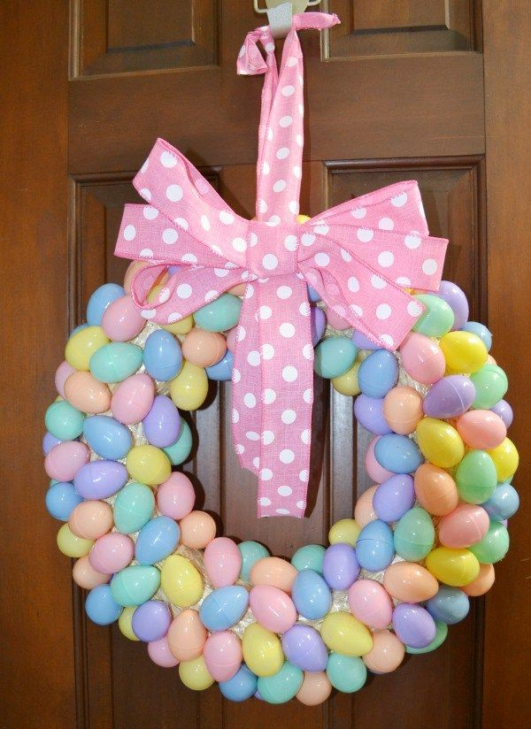 Affordable Easter Egg Wreath