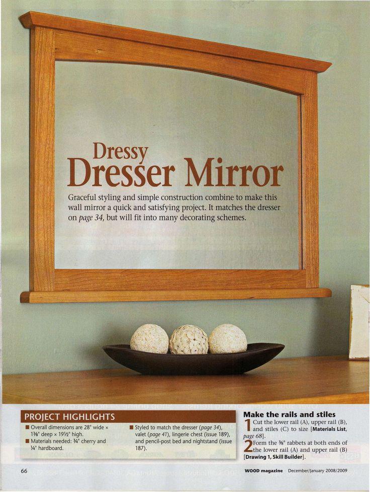 DIY Dresser Mirror plan