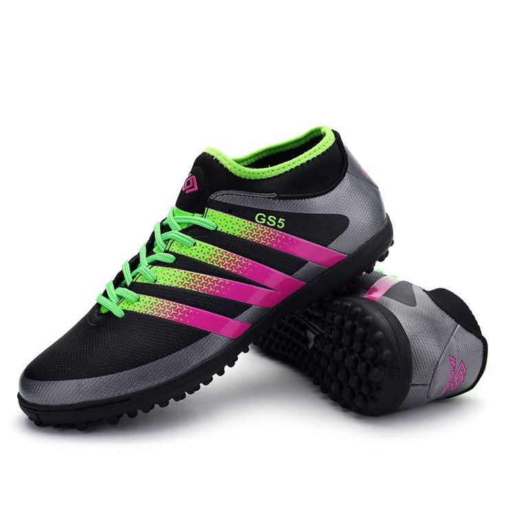 Durable Men's Kids Football Boots Ankle Top TF Soccer Indoor Cleats Sports Shoes #Unbranded