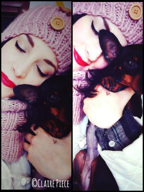 Mia... #dog #claire #clairepiece #makeup #picture #pose #love #truelove #puppy #pincher #lipstick #photo #picture