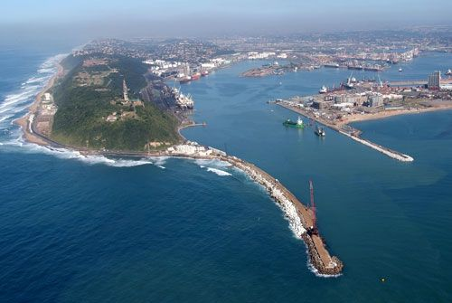 Durban Harbour and The Bluff, South Africa