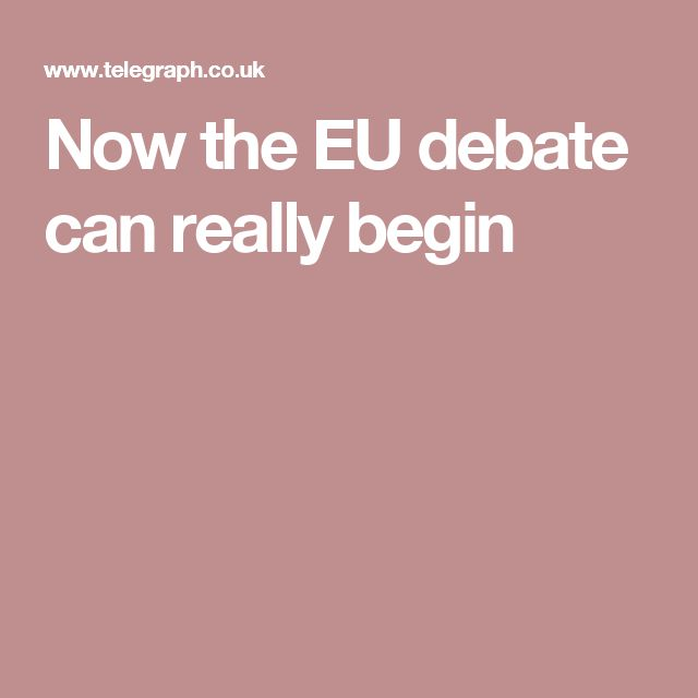 Now the EU debate can really begin