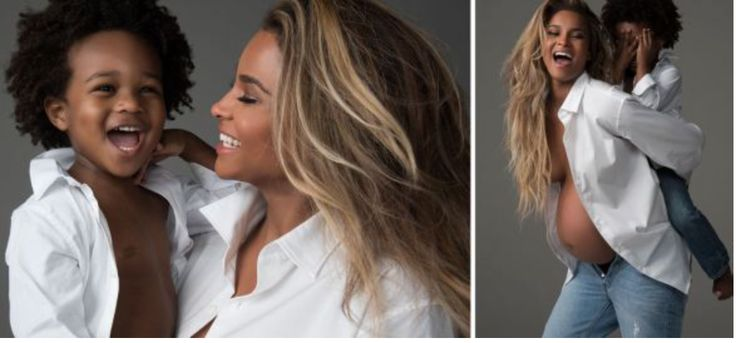 """Singer, Ciara, her husband Russell Wilson, her son, Future Zahir Wilburn all went nude for her maternity shoot. The epic shoot was for Harper's Bazaar where she talked about family, fame and her need to make the whole world dance. She shared the above photos and said; """"Just The 4 Of Us. ❤️ @harpersbazaarusa"""". See …"""