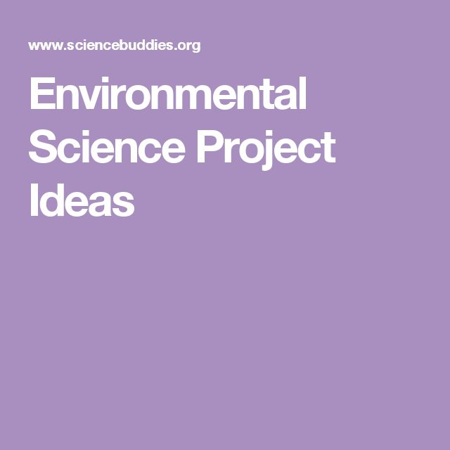 Environmental Science Project Ideas