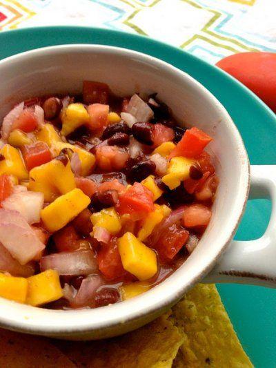 utterly addictive black bean and mango salsa.