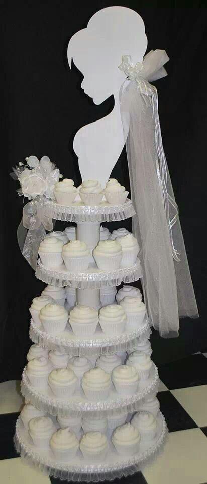 Bridal shower cupcake display