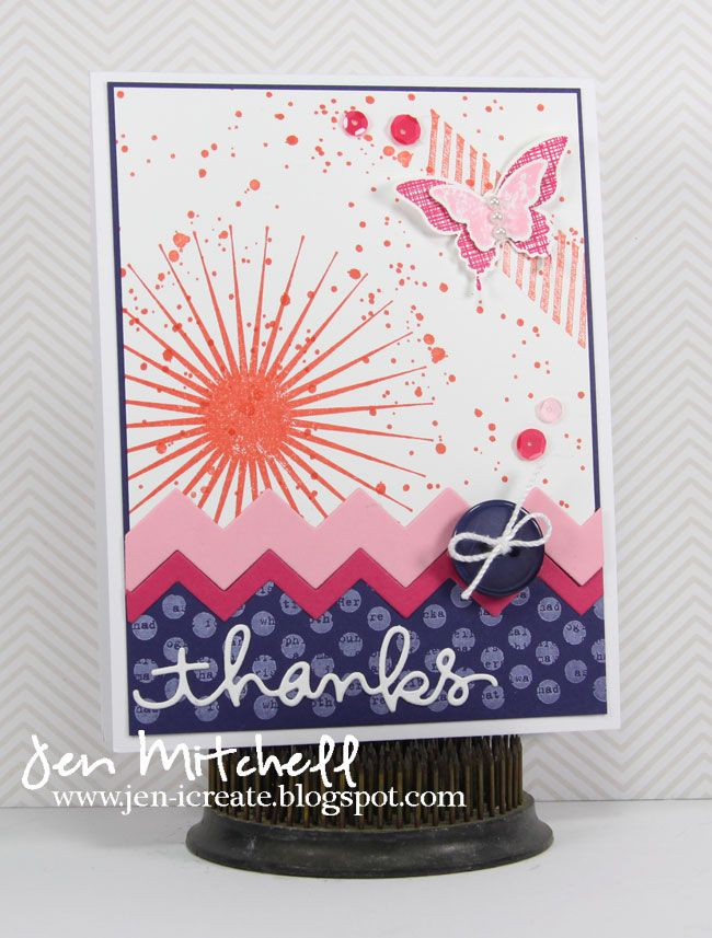 Thank You card, I Create, jen-icreate.blogspot.com