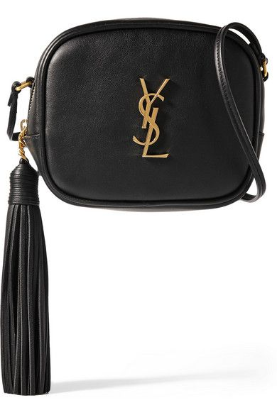 Saint Laurent's 'Monogramme Blogger' bag is flawlessly crafted from smooth black leather and finished with a sizable tassel - bohemian detailing is one of our favorite trends this season. It's proportioned to fit just the essentials and features a discreet back pocket and internal card slots so you can forgo a wallet.