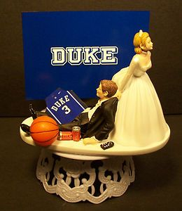 duke wedding cake topper | Duke College Basketball Blue Devil Wedding Cake Topper Sports Funny ...