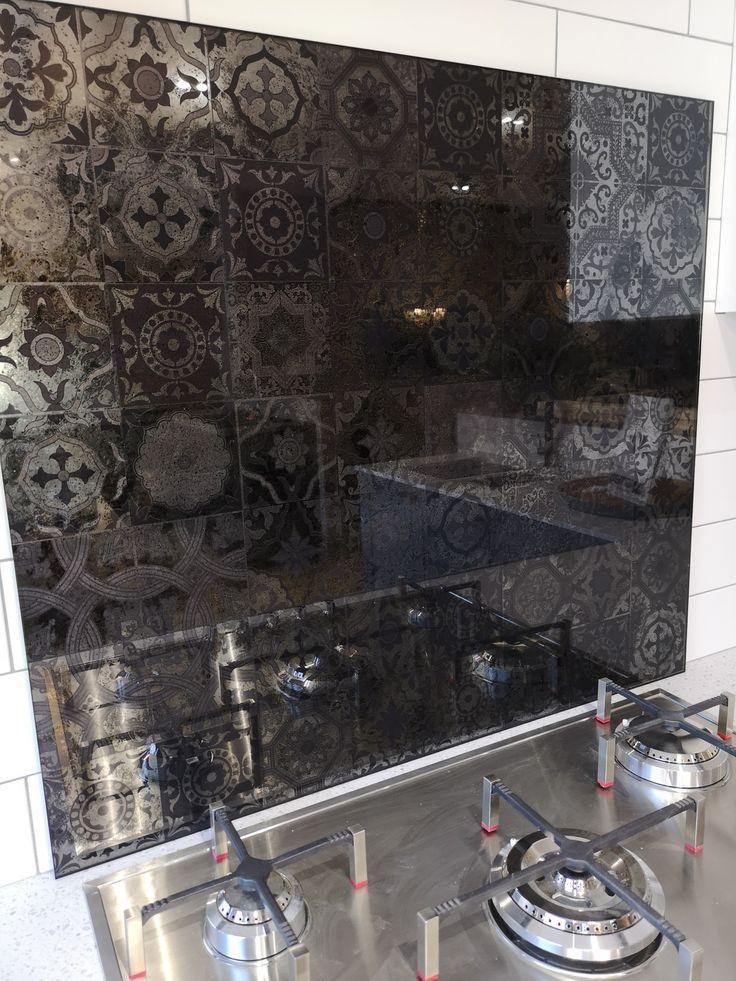 Moroccan Tiles Antique Mirror Splashback | Antique mirror ...