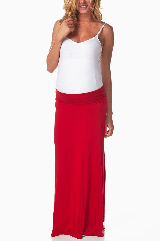 205e269a81a50 red maxi skirt | eBay
