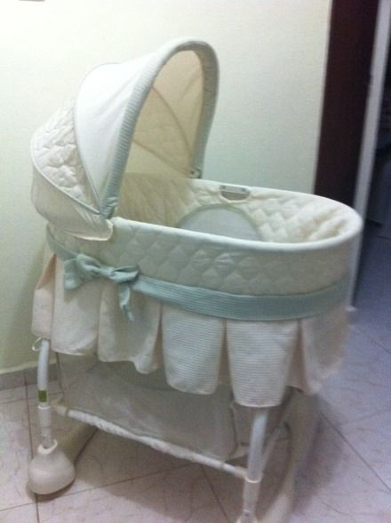 Pink And White Bassinet