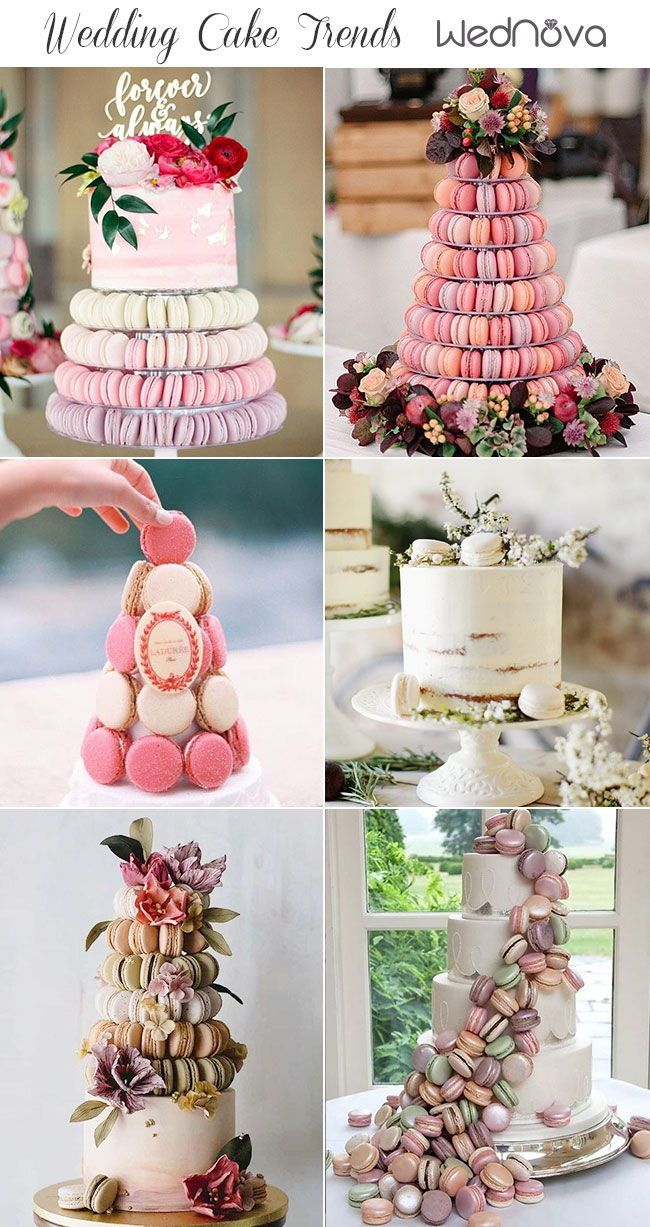 2019 Wedding Cake Trends To Inspire Your Big Day Wedding Macarons Romantic Wedding Cake Cool Wedding Cakes