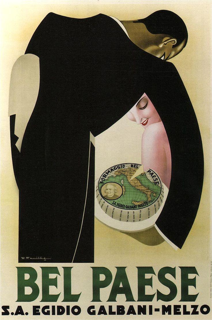 Formaggio Bel Paese,  Italian Vintage  Poster 1928
