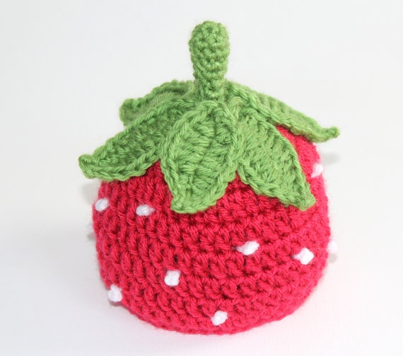 Newborn Strawberry Hat Crochet Pattern : 81 best images about Crochet - Hats Food on Pinterest ...