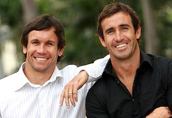 Matty & Andrew Johns - Newcastle Knights legendary brothers.