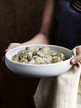 alto adige-style spinach + bread dumplings w/ gruyère + parmigiano-reggiano