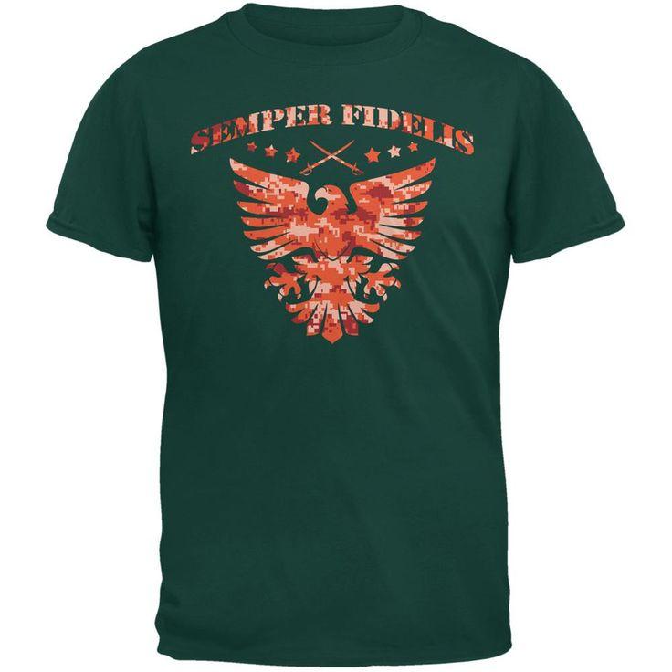 Semper Fidelis Eagle Forest Green Adult T-Shirt