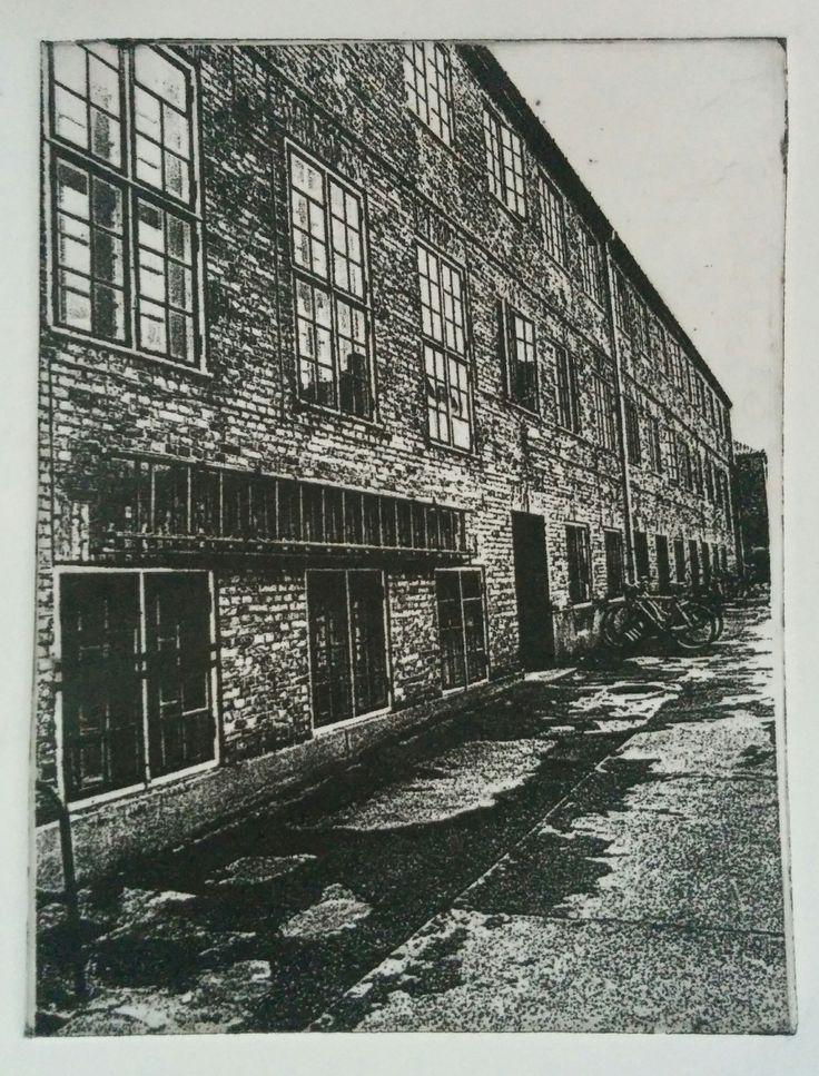 """Photogravure """"Baggård i København"""""""