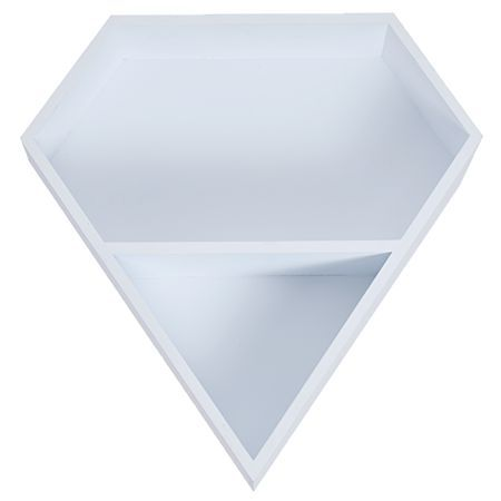 Living & Co Shelf Diamond White 36cm x 9.5cm x 37.5cm