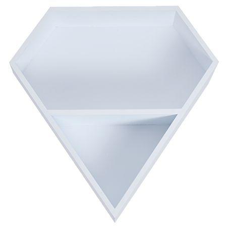 Living & Co Shelf Diamond White 36cm x 9.5cm x 37.5cm