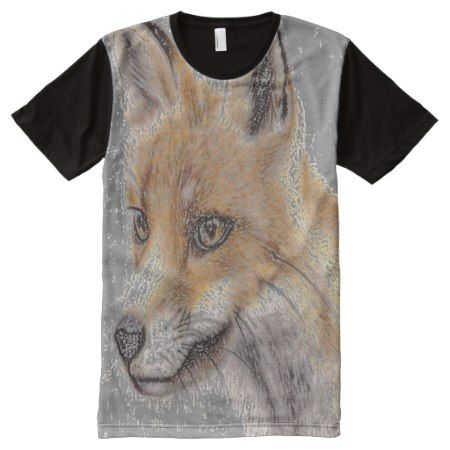 Fox Full Print Tshirt - tap, personalize, buy right now!
