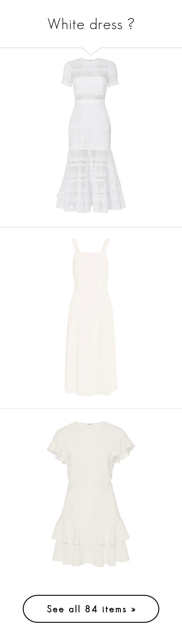"""""""White dress 💭"""" by ngkhhuynstyle ❤ liked on Polyvore featuring dresses, vestidos, white, short mini skirts, short skirts, white short sleeve dress, white mini skirt, see-through dresses, pleated midi dress and polka dot midi dress"""