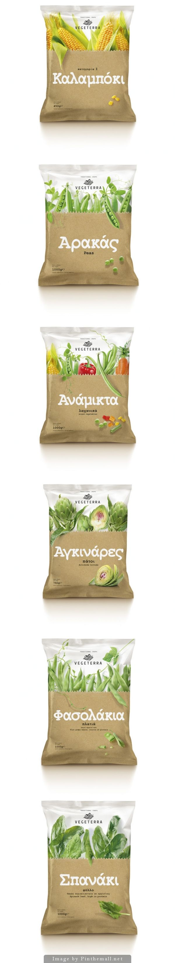 Vegeterra Frozen #Vegetables #packaging by mousegraphics - http://www.packagingoftheworld.com/2014/11/vegeterra-frozen-vegetables.html