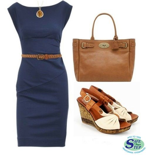 Office Outfit with #Safestep #Wedge!!    #Stylish #Comfort #Shoes #Office #Woman #Fashion