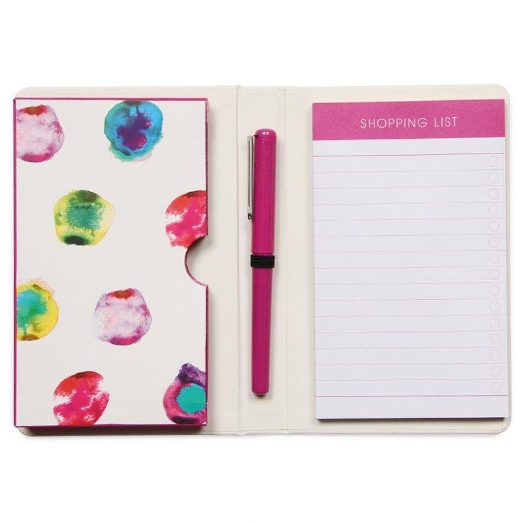 Watercolour spot shopping organiser - List pads - Writing - Stationery