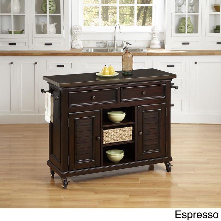 Espresso Kitchen Cart   Contemporary   Kitchen Islands And Kitchen Carts    IvgStores