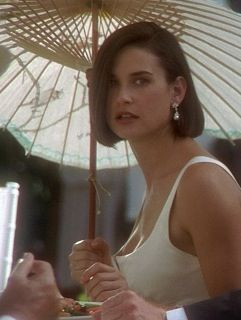 "Demi Moore, the hair, the dress, the beauty. ""The things that people in love do to each other they remember, and if they stay together its not because they forget, its because they forgive"" -Indecent Proposal"