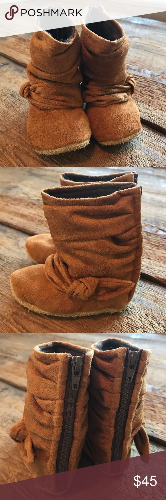 Gracious May Leather Booties New without the box. Gracious May leather booties. So adorable and impeccably made. Never worn, no flaws. Infant/toddler size 5. These run small. Closer to a 4, IMO. Gracious May Shoes Baby & Walker
