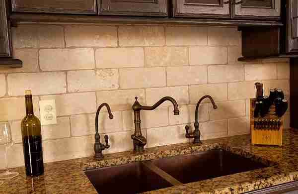rustic kitchen backsplash tile 25 best ideas about travertine tile backsplash on 4980