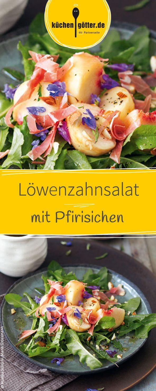 Das Rezept zu unserem Löwenzahnsalat mit fruchtigen Pfirsichen und aromatischen Seranoschinken findet ihr bei uns!