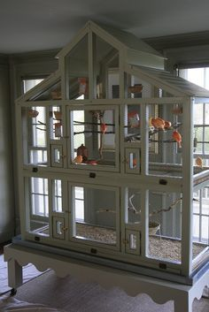 Pet Bird Cage Ideas I Will Copy This Seed Catcher Just Have To