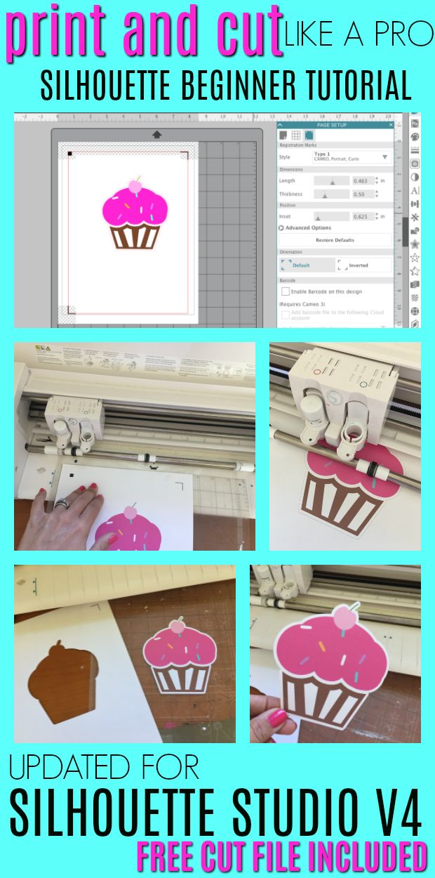 This Silhouette CAMEO tutorial for beginners will walk you through step by step how to print and cut with Silhouette Studio V4. This beginner tutorial focuses on the new version of Silhouette Studio (V4) to help anyone who's new to Silhouette or transitioning to V4 from an older version of the Silhouette Studio software.