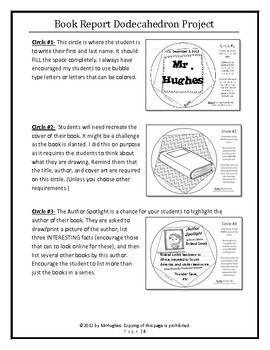 dodecahedron book report project