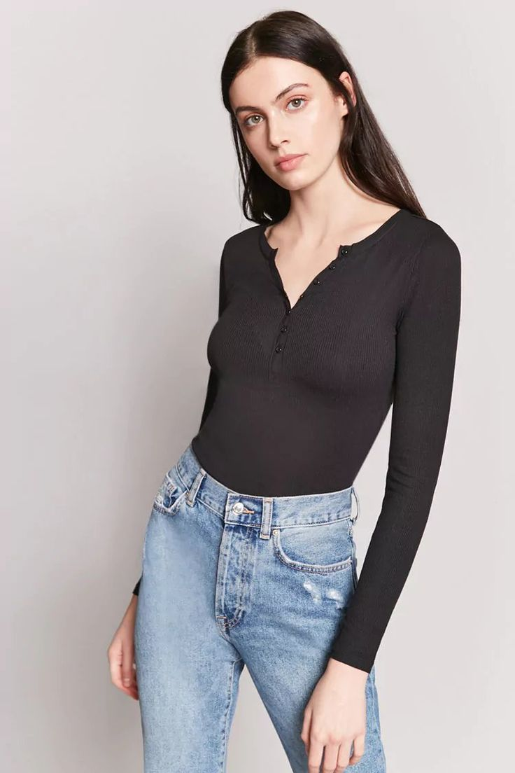 Product Name:Semi-Sheer Henley Top, Category:top_blouses, Price:12.9