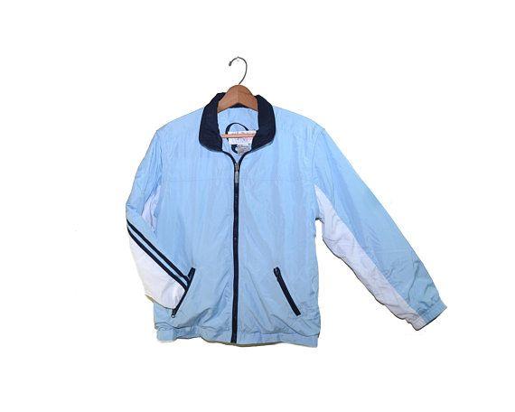 Vintage Blue Bomber Jacket 1990 S Bomber Jacket Blue Etsy Bomber Jacket Vintage Blue Bomber Jacket Denim Jacket Fashion